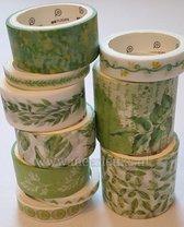Washi Tape Leafs 10 rollen Masking tape Botanical / Blaadjes