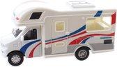 Jonotoys Touring Car Camper 12,5 Cm Diecast Wit/blauw/rood