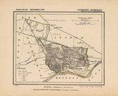 Historische kaart, plattegrond van gemeente Renkum ( Oosterbeek) in Gelderland uit 1867 door Kuyper van Kaartcadeau.com