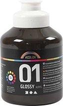 A-color Glossy acrylverf, bruin, 01 - glossy, 500 ml