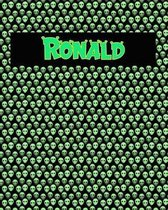 120 Page Handwriting Practice Book with Green Alien Cover Ronald