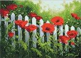 Wizardi Diamond Painting garden Poppies WD008