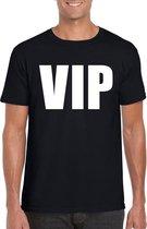 VIP tekst t-shirt zwart heren 2XL
