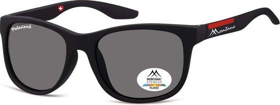 Montana MS313 - Zonnebril -New Wayfarer style - Zwart en Rood - Lensbreedte 54 mm