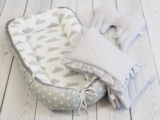 Babynestje Wolkjes Grijs/Wit Betulli