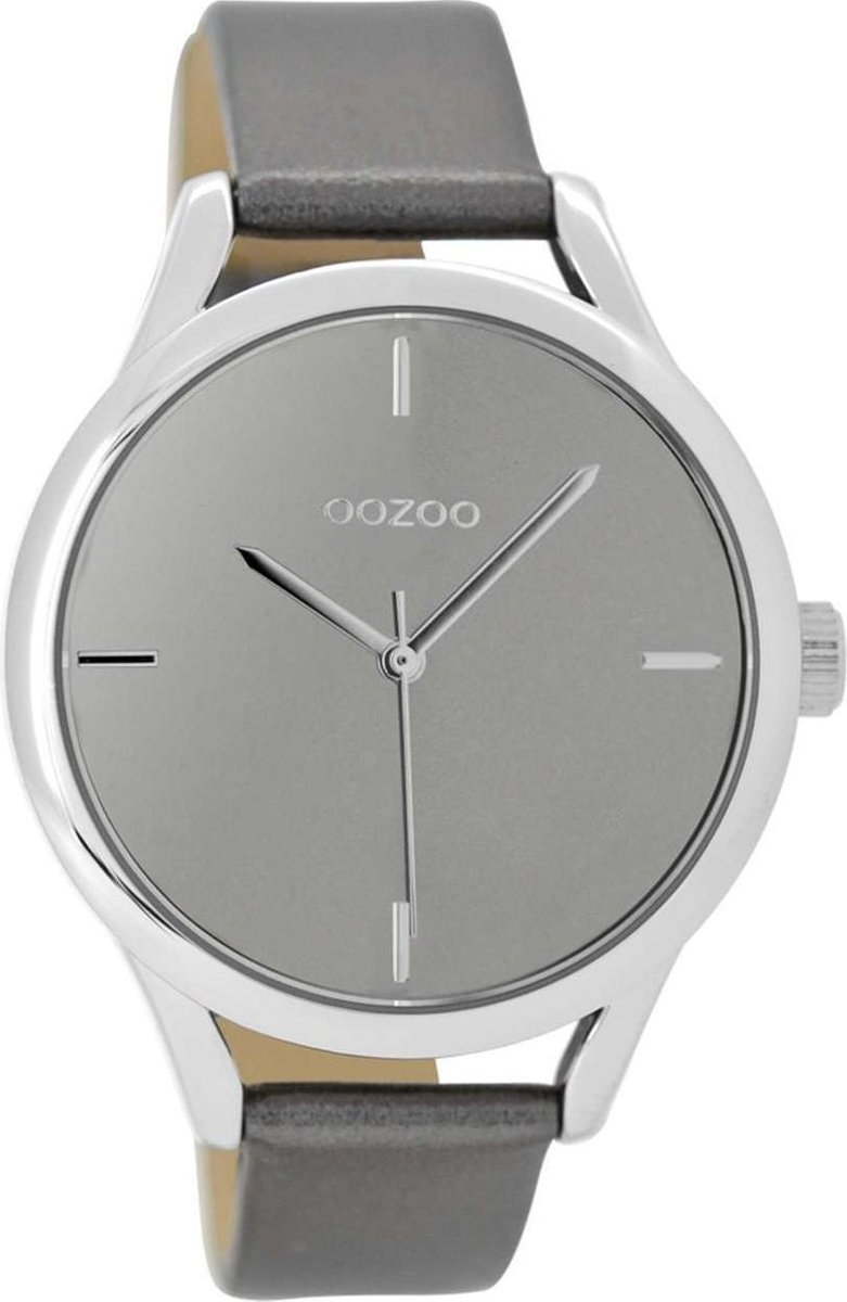 OOZOO Timepieces Grijs horloge  (40 mm) - Grijs - OOZOO