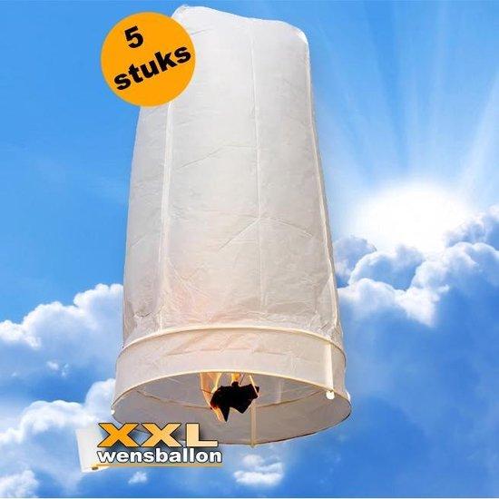 5x XXL Wensballon