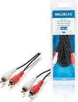 Valueline VLAB24200B50 5m 2 x RCA 2 x RCA Zwart, Rood, Wit audio kabel