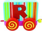 Tatiri Houten letter: treinalfabet r