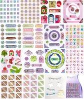 Groot Versieringen Pakket - 345 Stuks!! - Embellishments perfekt om kaarten, scrapbook en heel veel andere creatieve projecten te versieren