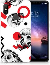 Xiaomi Redmi Note 6 Pro TPU Hoesje Design Skull Red