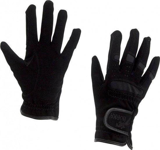 Paardrijhandschoenen Zwart maat XL