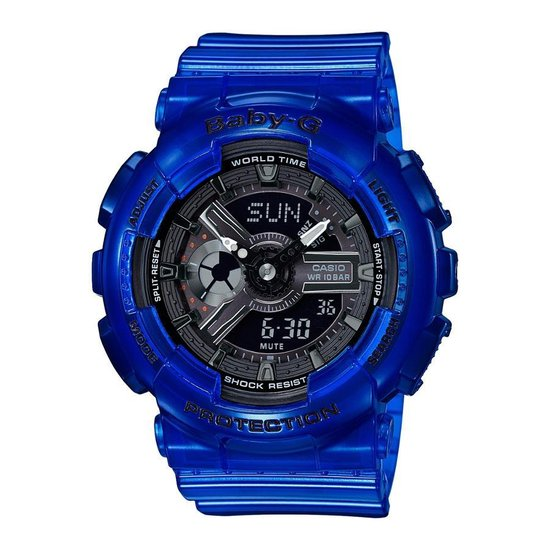 Casio BABY-G BA-110CR-2AER Horloge - Kunststof - Blauw - Ø 43 mm