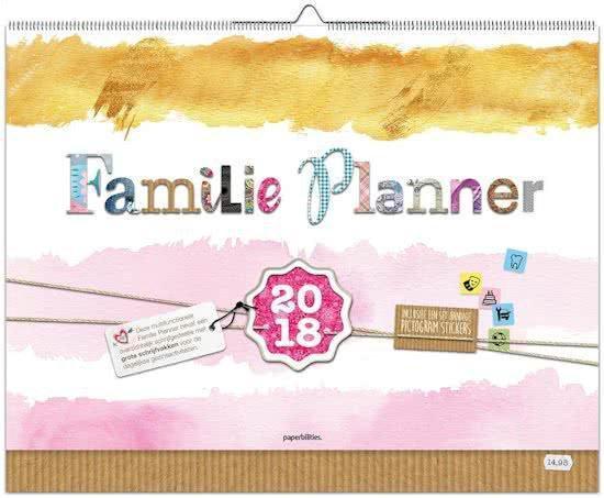 Piens familyplanner (wall planner) 2018