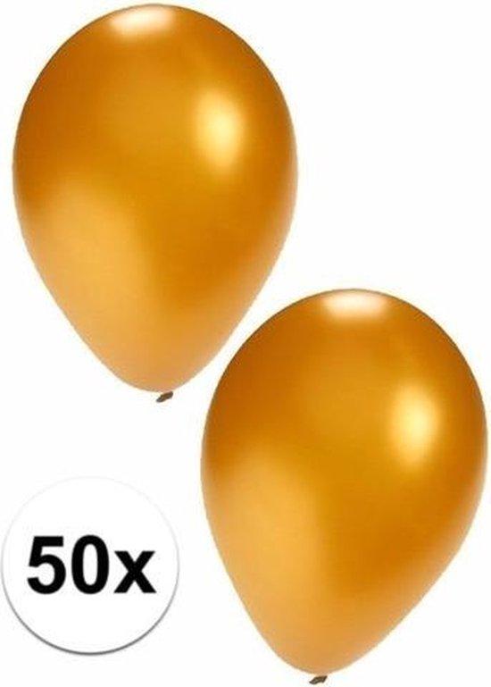 Gouden ballonnen - 50 stuks - ballon versiering goud