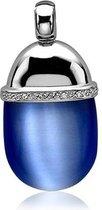 Zinzi - Zilveren Hanger - Blauwe Cateye - Zirkonia (ZIH794B)