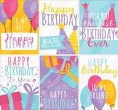 Verjaardagskaarten - Set van 12 x verjaardagskaart