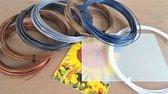 Cleaning Filament, Metal 6x10m PLA filament + clips, 3DPAD, Let op: excl. 3D PEN!
