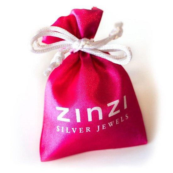Zinzi - Zilveren Ring - Bruin - Zirkonia - Gedraaid - Maat 52 ZIR937B52