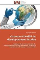 Cotonou Et Le D�fi Du D�veloppement Durable