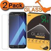 2 Stuks Pack Screenprotector Anti barst Tempered glass Samsung Galaxy A5 2017