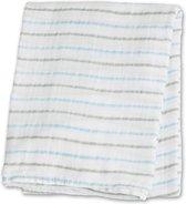 Lulujo swaddle 100% katoen 120x120 cm - Blue Messy Stripe