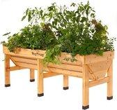 Vegtrug verhoogde kweektafel  - 180 x 76 x 80 cm - set van 2 stuks