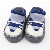 JillyBee - Baby Sokjes - Slofsokken - Antislip - Donker Grijs - 14cm