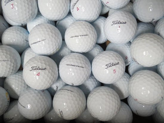 Golfballen gebruikt/lakeballs Titleist Pro V1X model 2014 AAAA klasse 50 stuks.