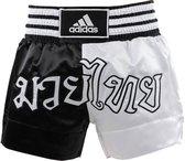 Adidas Thaiboksshort Half/Half Zwart/Wit Extra Extra