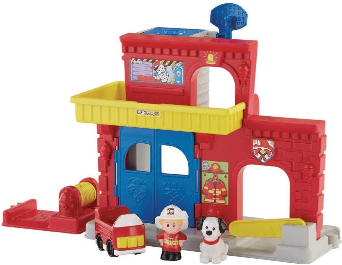 Fisher-Price Little People Brandweerkazerne - Speelfigurenset