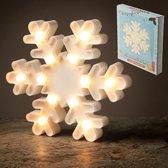 Led lamp sneeuwvlok wit