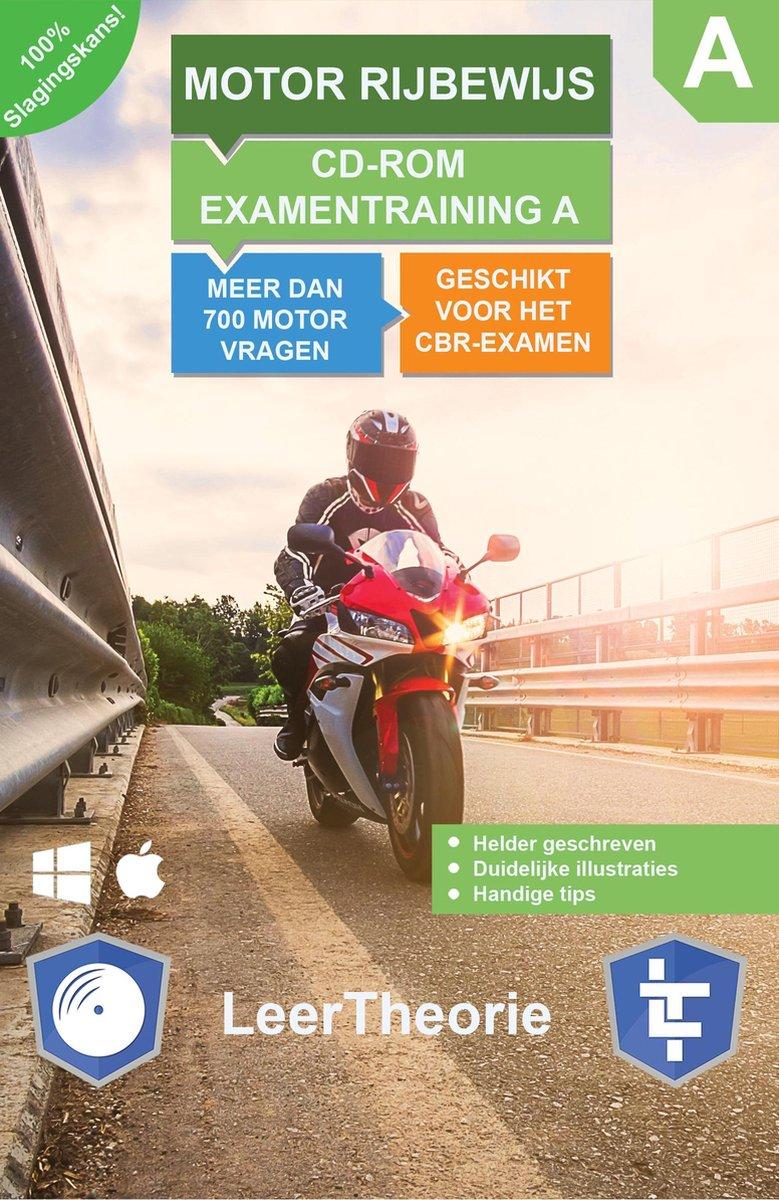 Motor Rijbewijs A - CD-ROM Motor Examentraining A - 700 oefenvragen - 15 Theorie Examens - Ontworpen