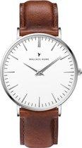 Wallace Hume Klassiek Wit - Horloge - Leer - Bruin