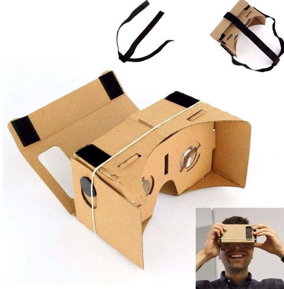 De Nieuwste Versie Van De (Google) Cardboard V2 Inclusief Hoofdband / Virtual Reality 3D bril!