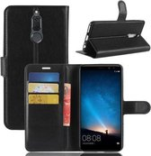 Huawei Mate 10 Lite Hoesje Zwart met opbergvakjes