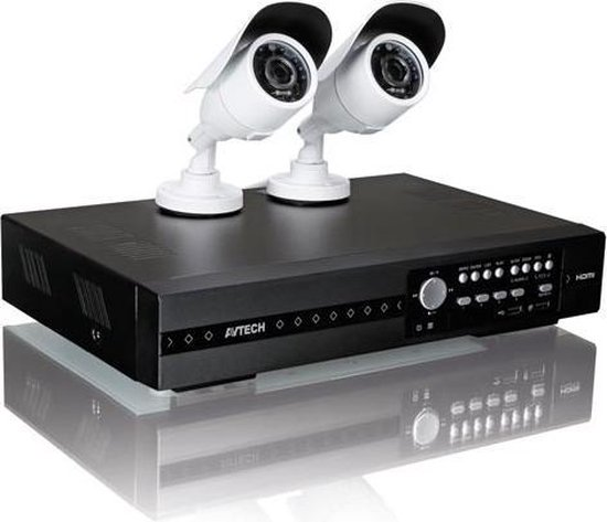 FULL HD-BEWAKINGSSYSTEEM - 4 KANALEN - 2 IR-CAMERA'S - PUSH VIDEO & STATUS - IVS