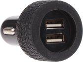 Dunlop Autolader Dubbel 12/24 Volt 3,1a Zwart