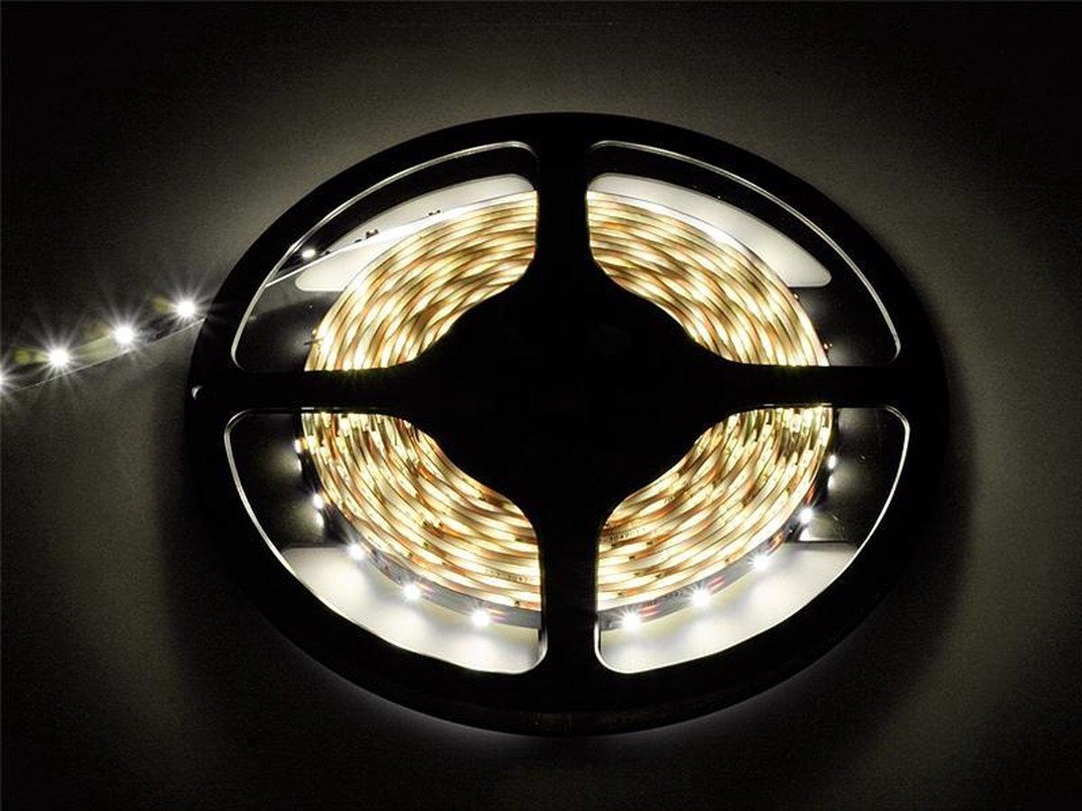 5 meter - Duo Warm Wit-Koud Wit - LED Strip - 12 volt - 3528 SMD