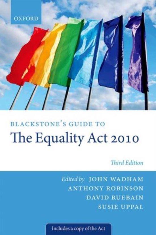Boek cover Blackstones Guide to the Equality Act 2010 van Wadham, John (Paperback)