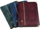Leuchtturm Postzegelinsteekalbum Comfort Deluxe blauw - 64 zwarte bladzijden