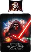 Star Wars - Dekbedovertrek - Eenpersoons - 140x200 cm + 1 kussensloop 60x70 cm - Red