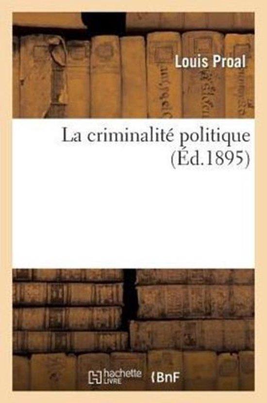 La criminalite politique
