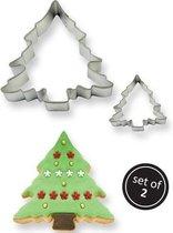 PME Koekjes Uitstekers - Kerstbomen - set van 2