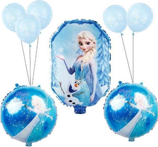 Frozen Ballonnen set | 9 stuks | Elsa  Folie ballonnen | Frozen versiering