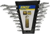 Kinzo Steeksleutelset - 8-delig - Sleutelmaat 6 tot 22