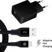 USB-C oplader met Adapter - Fast Charging (3 ampère)