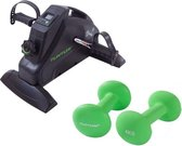 Tunturi - Fitness Set - Cardio Mini Bike - Stoelfiets & 2 x 4 kg Gewichten