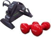 Tunturi - Fitness Set - Cardio Mini Bike - Stoelfiets & 2 x 3 kg Gewichten