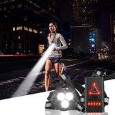LED Hardloop verlichting  - Hardloop lampjes - Wandel verlichting - Hardloop licht - Reflecterend hardloopvest - Hardloop borstlamp - Verlichting hardlopen - Hardloopvest met verlichting - Wandelverlichting - USB oplaadbaar - Verstelbaar